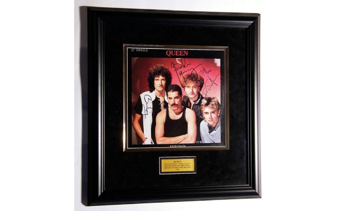 """Queen Signed """"Radio Ga Ga"""" 1984 Framed Single"""