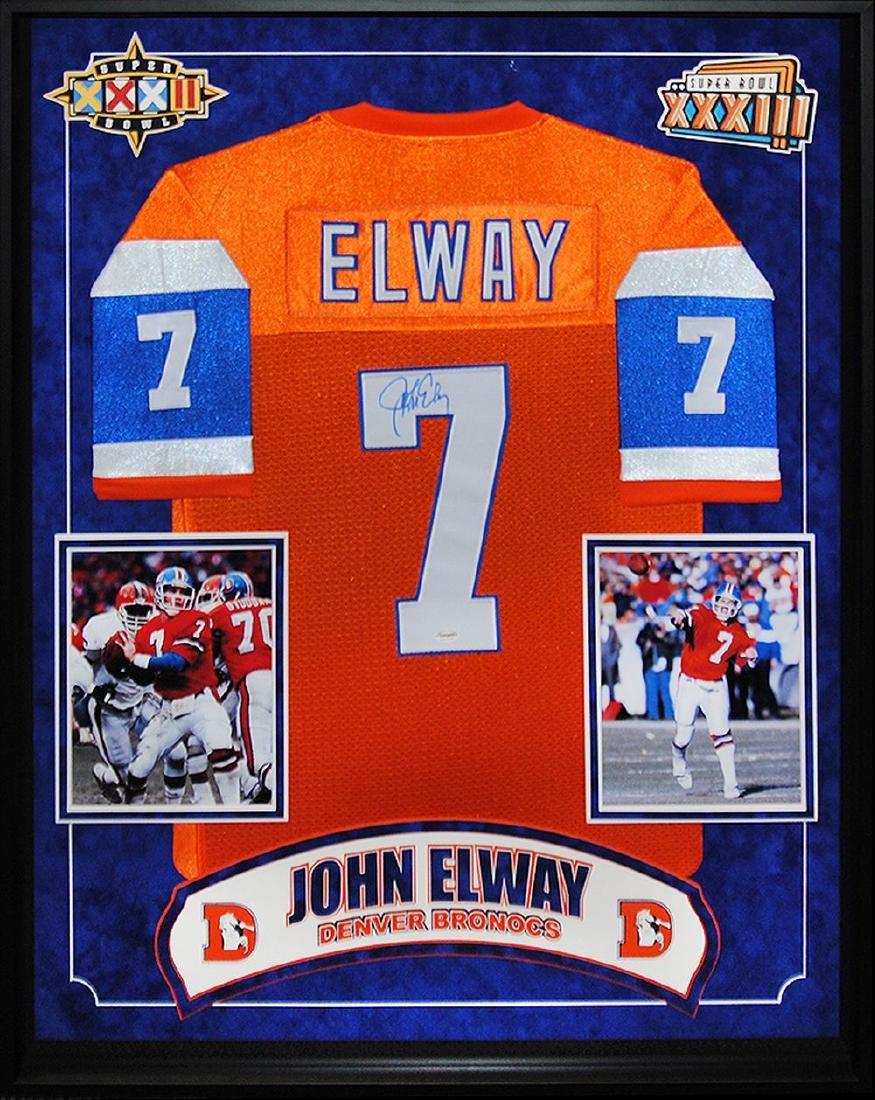 John Elway Signed Broncos Jersey