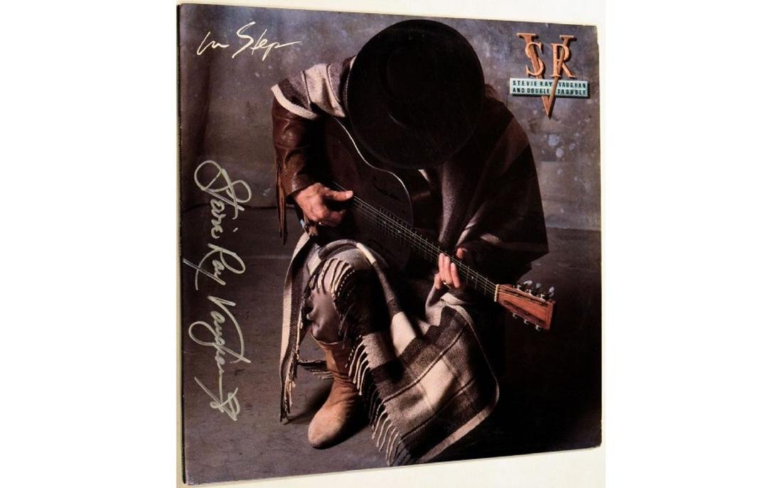 Stevie Ray Vaughan Signed In Step - 1989 Album