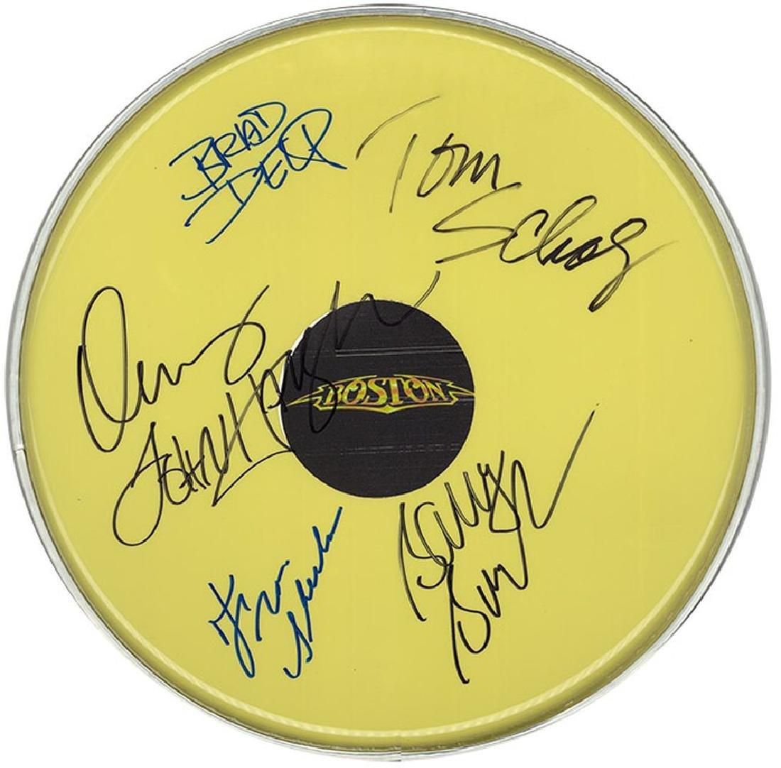 Boston Band Signed  Drum Head