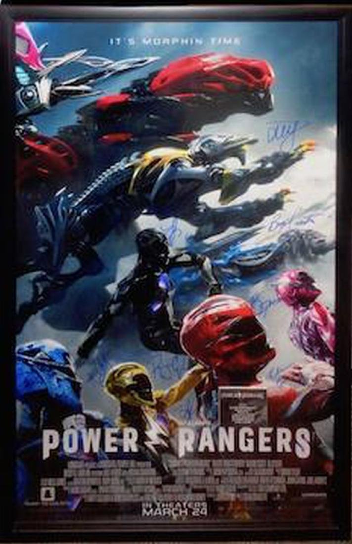 Power Rangers Signed Movie Poster