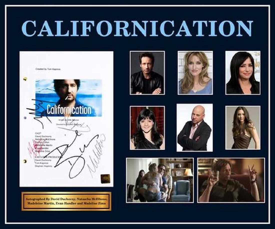 Californication - Signed Movie Script in Photo Collage
