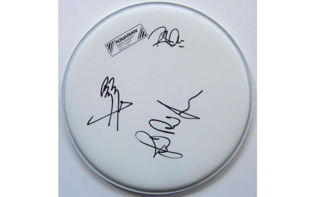 Led Zeppelin Signed Drum Head