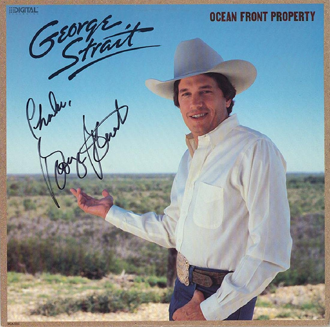George Strait Signed Ocean Front Property Album