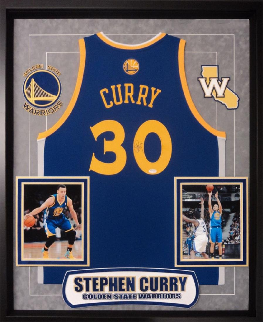 Stephen Curry Signed Warriors Jersey