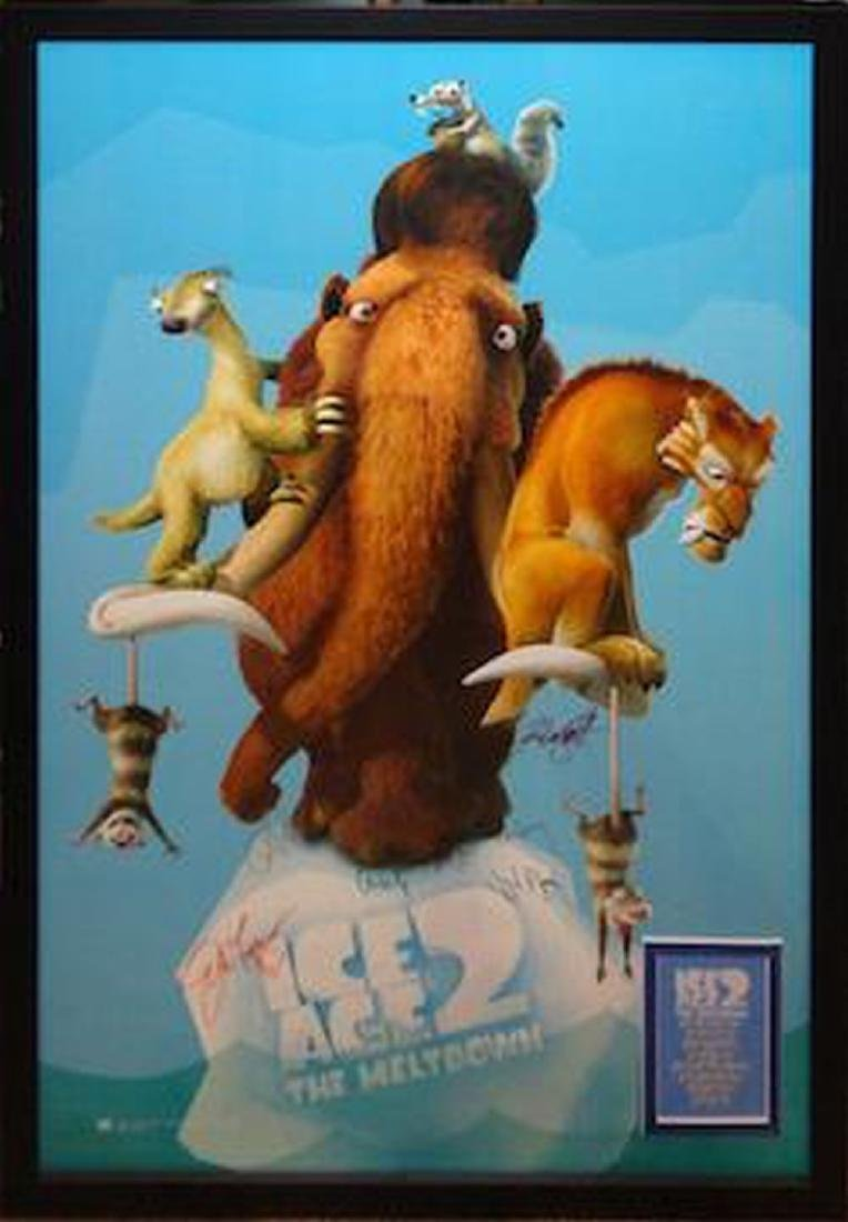 Ice Age 2 Signed Movie Poster