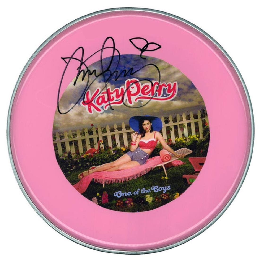 Katy Perry Signed Drum Head