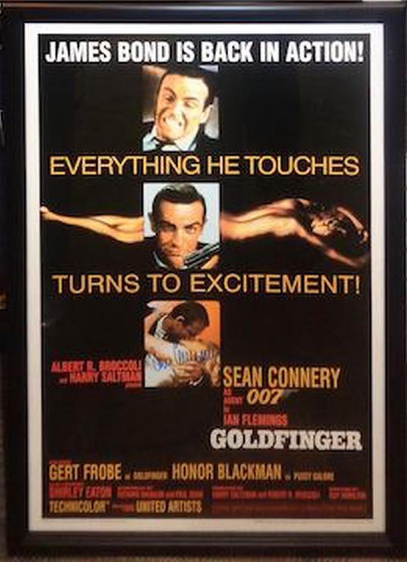 "James Bond ""Goldfinger"" Signed Movie Poster"