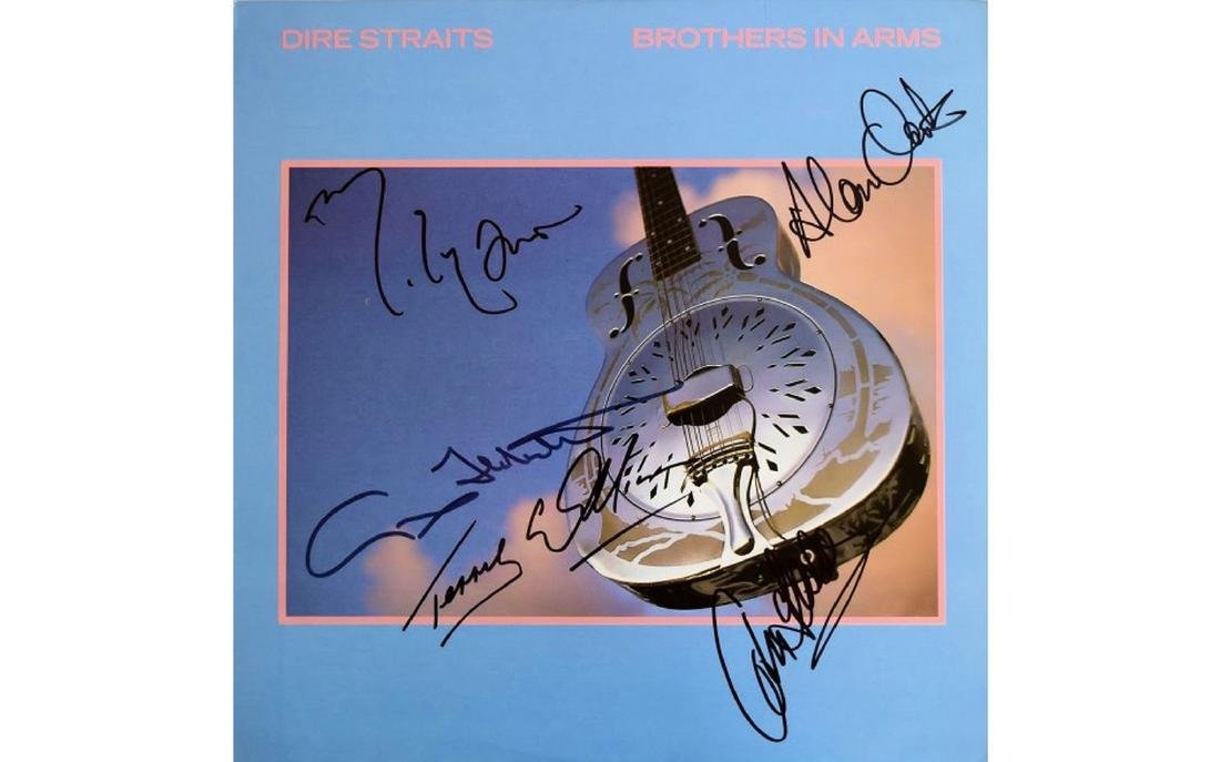 "Dire Straits ""Brothers in Arms"" Signed Album"