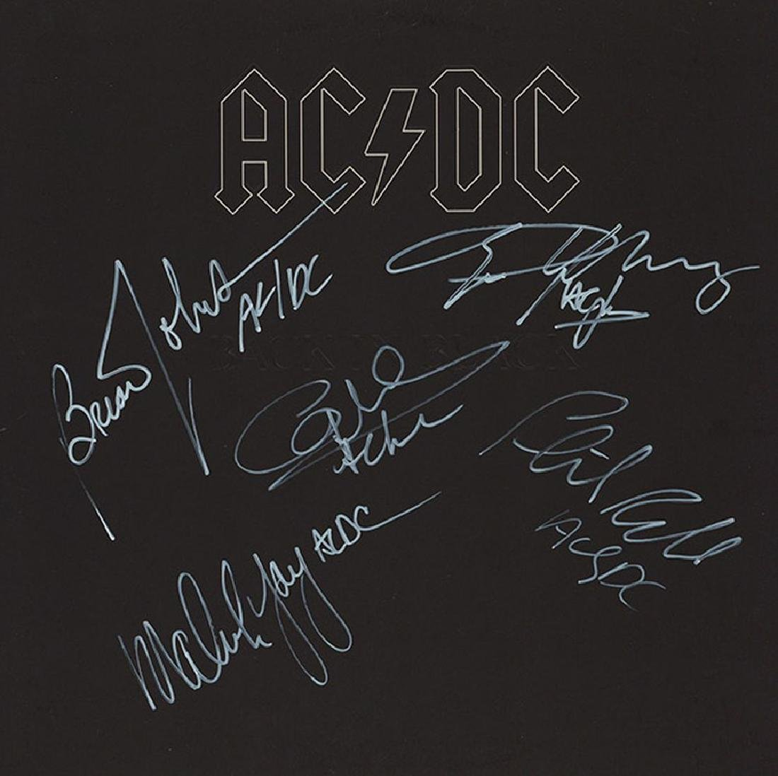 AC/DC Band Signed Back In Black Album