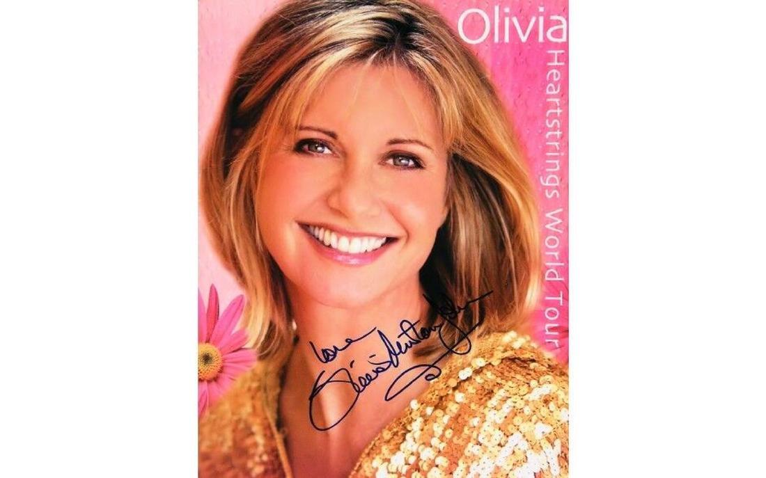Olivia Newton John Autographed Tour Book