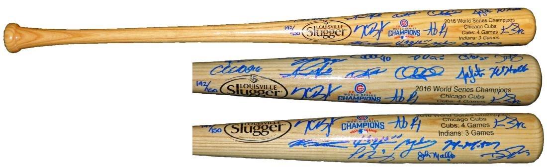 2016 Chicago Cubs Team Signed Louisville Slugger 2016