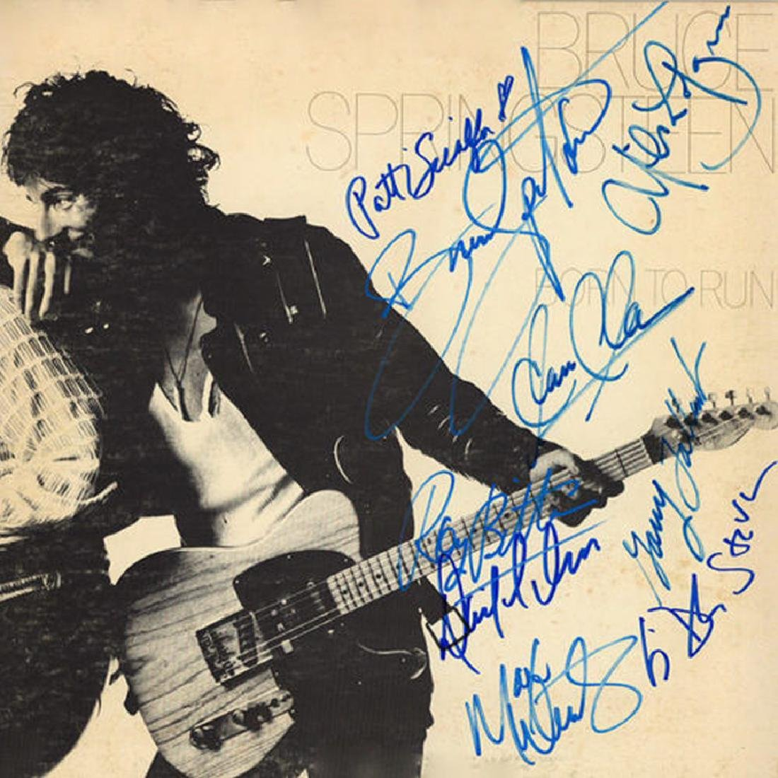"""Bruce Springsteen and The E Street Band Signed  """"Born"""