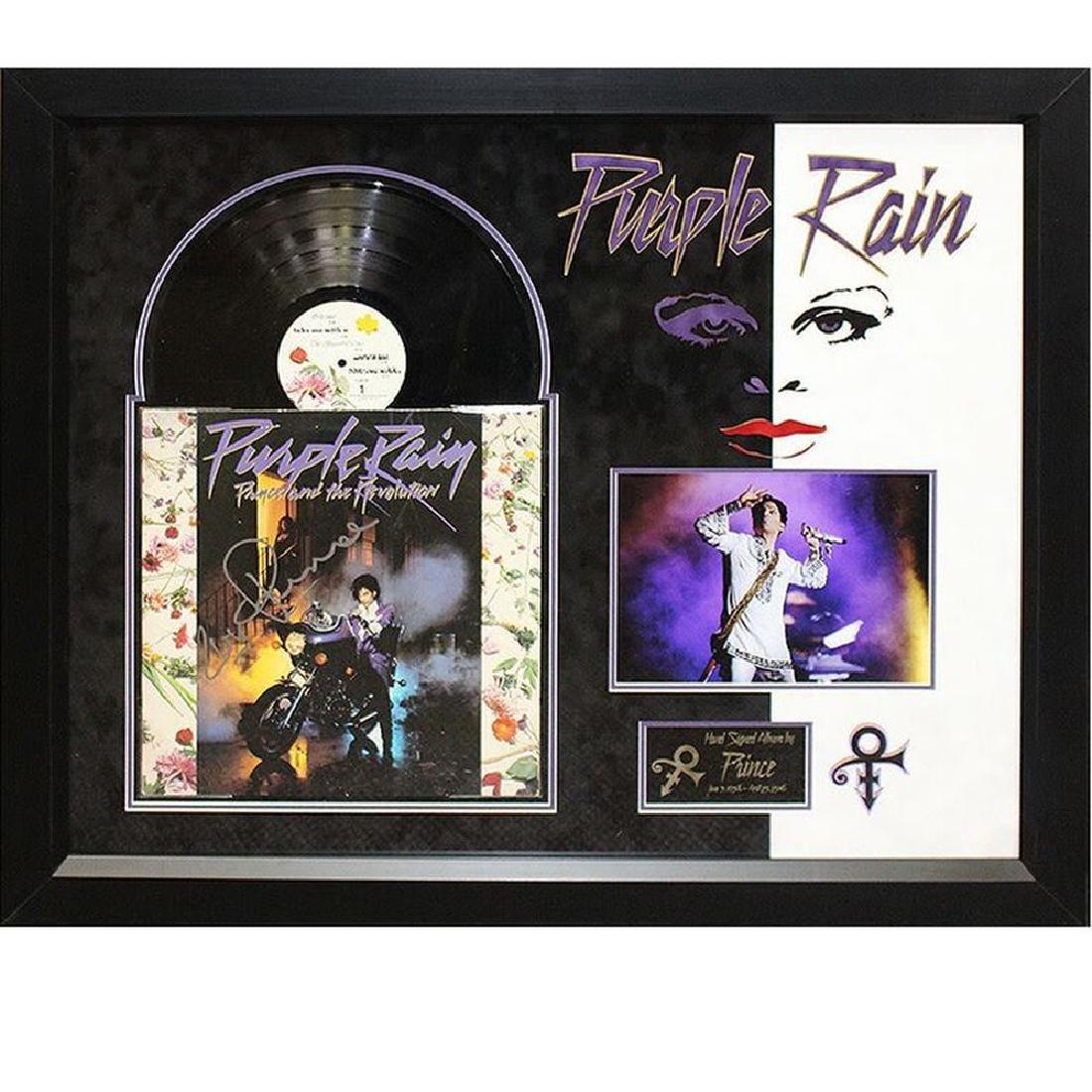Prince Signed Purple Rain Album