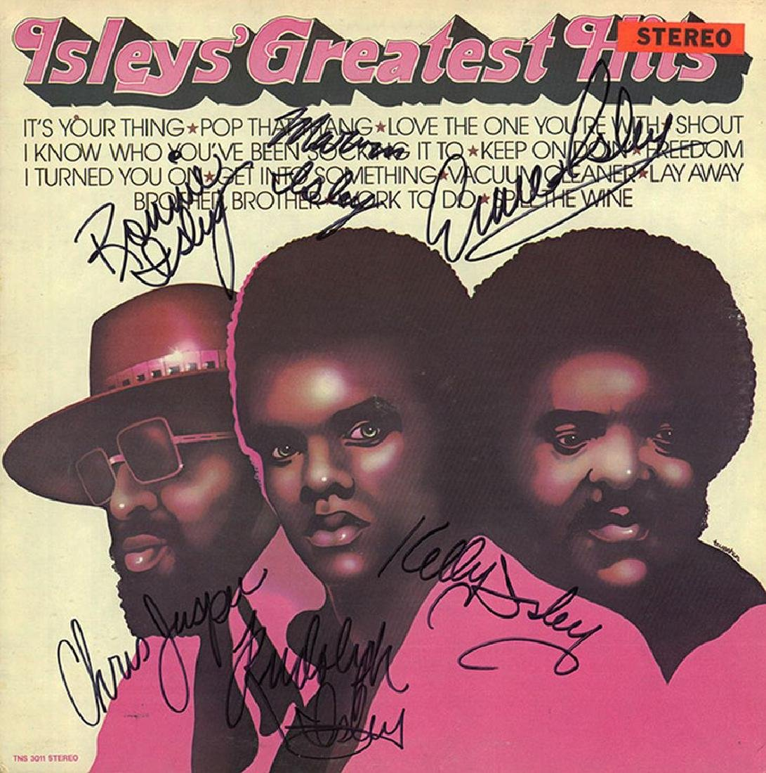 Isley Brothers Signed Greatest Hits Album