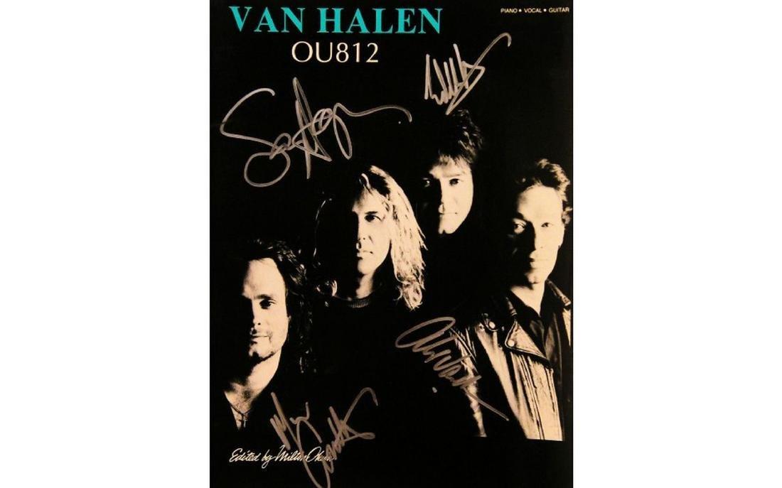 "Van Halen Signed Music Book for ""OU812"""