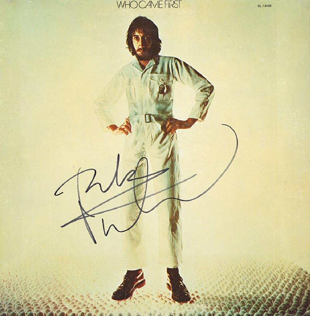 Peter Townshend Signed Who Came First Album