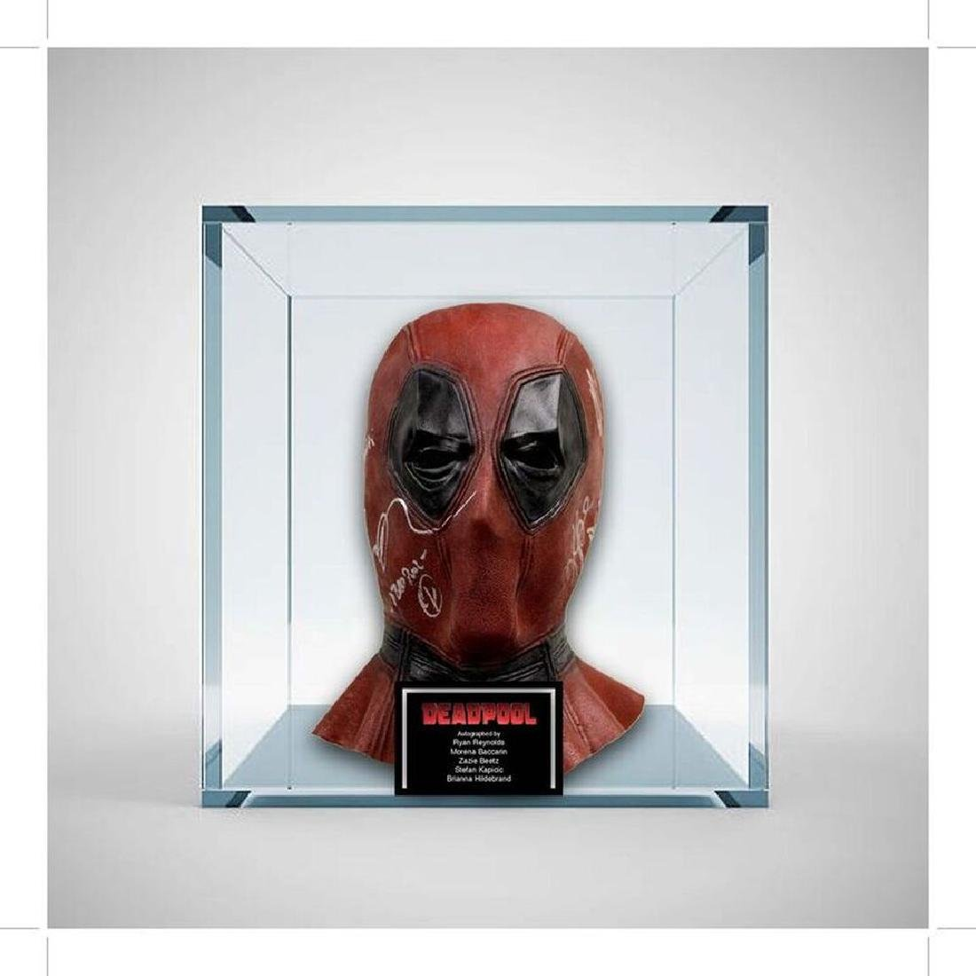 Deadpool 2 Cast Signed Mask