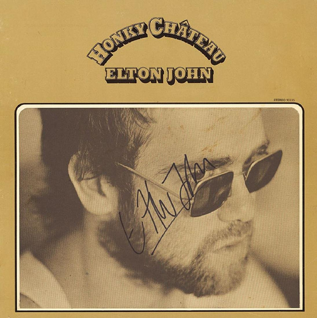 "Elton John ""Greatest Hits"" Autographed Album Framed"