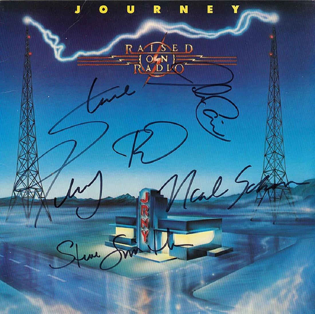 Journey Band Signed Raised On Radio Album