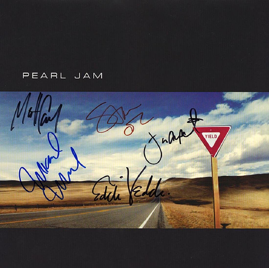 Pearl Jam Band Signed Yield Album