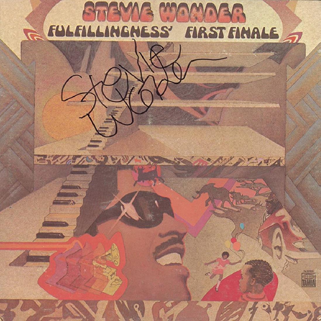 Stevie Wonder Signed Fulfillingness' First Finale Album
