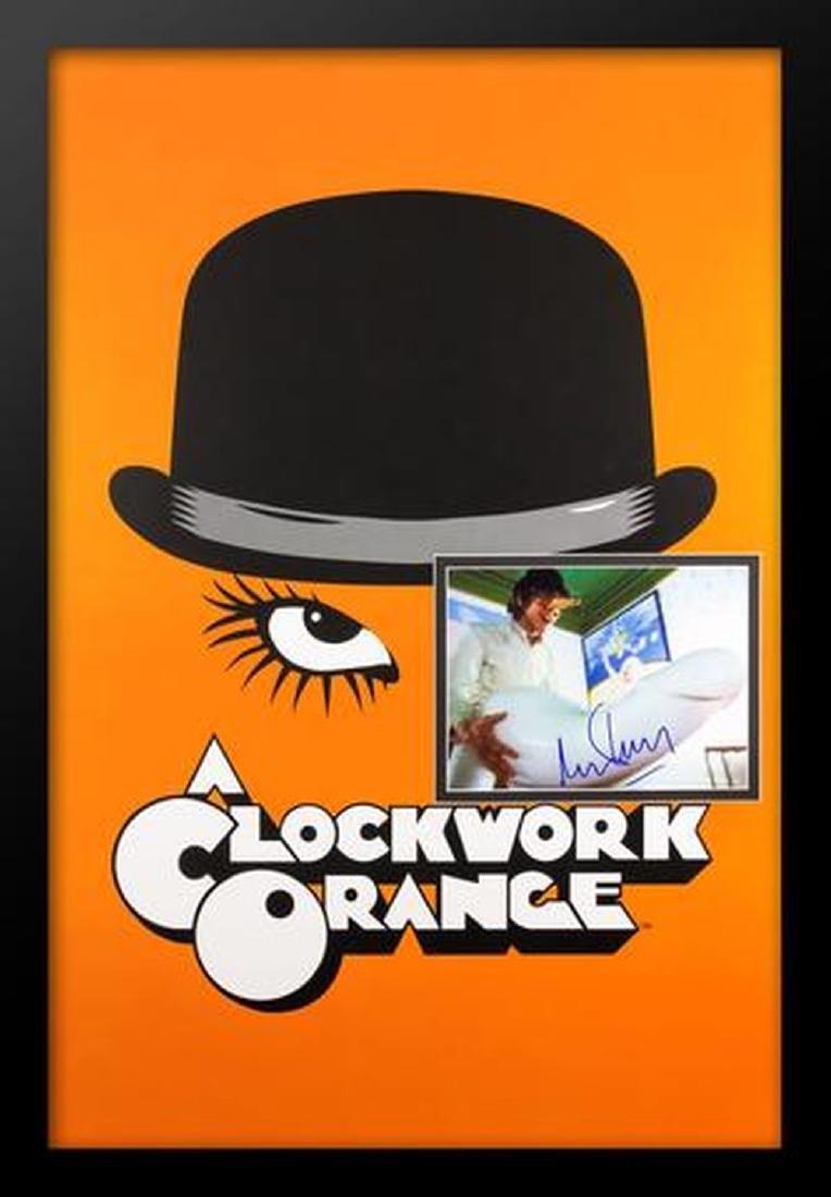 Clockwork Orange - Signed Photo in Movie Poster