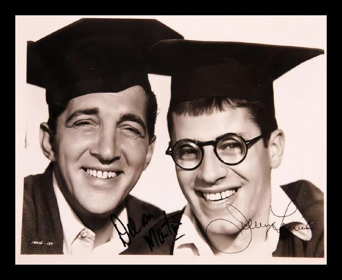 Dean Martin and Jerry Lewis Autographed Collage