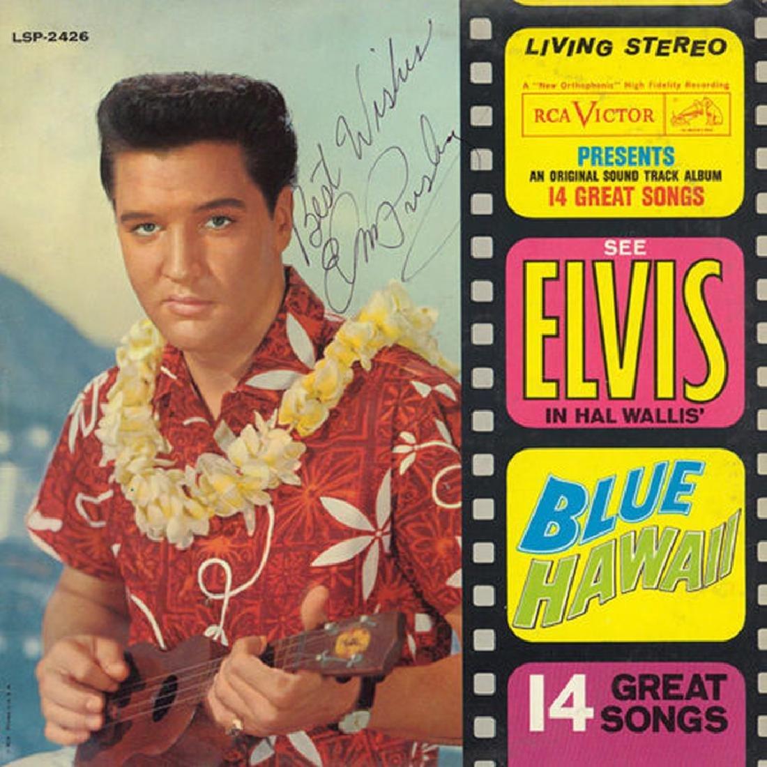 Elvis Presley Signed Blue Hawaii Album