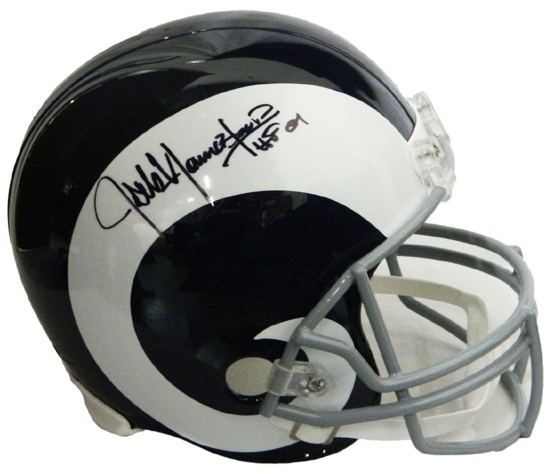 Jack Youngblood Signed LA Rams White Throwback Riddell