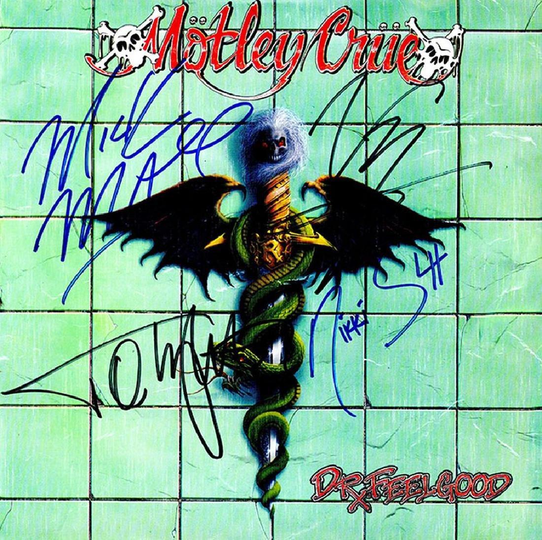 Motley Crue Band Signed Dr. Feelgood Album