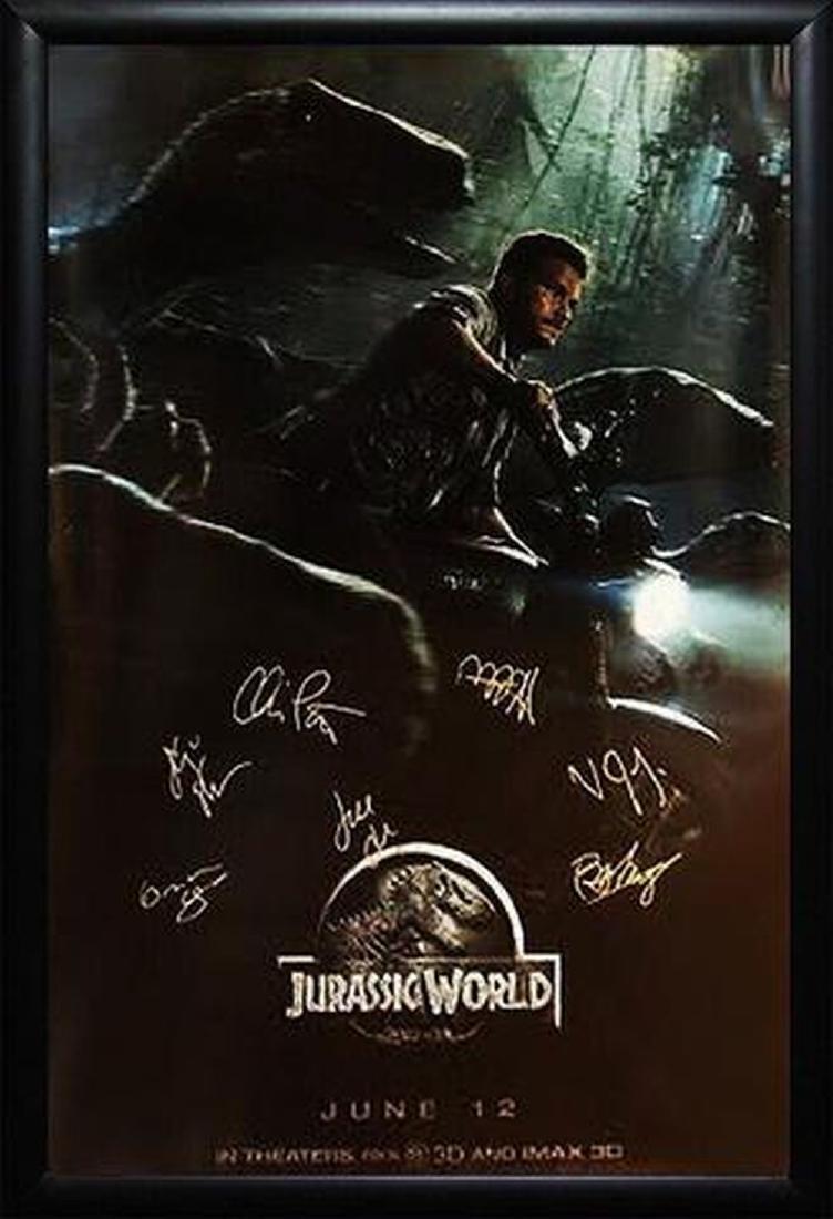 Jurassic World - Signed Movie Poster