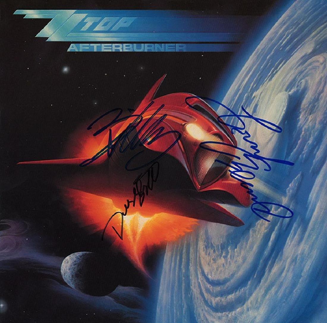 "ZZ Top Band Signed ""Afterburner"" Album"