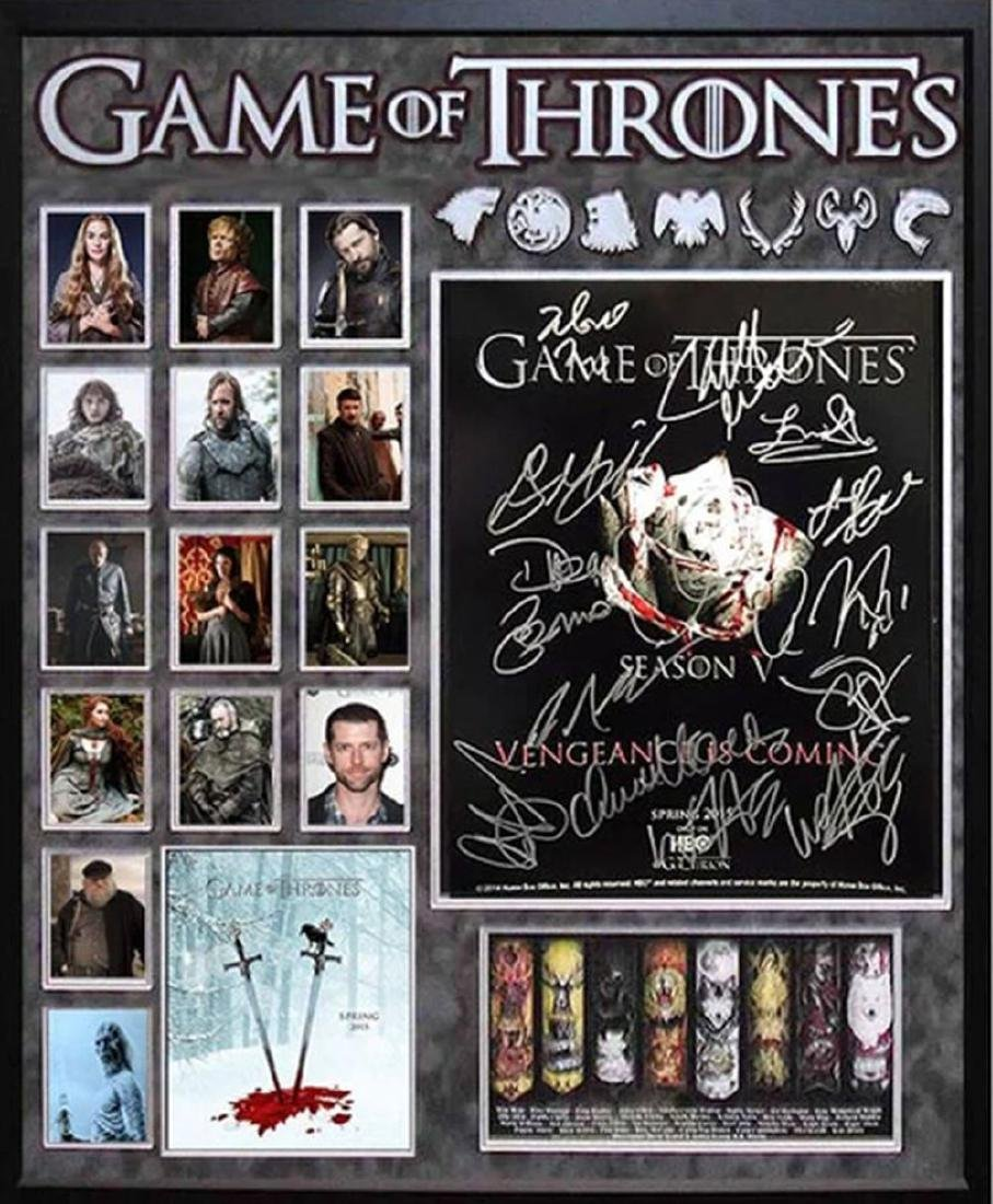Game of Thrones - Cast Signed Collage Poster in Framed