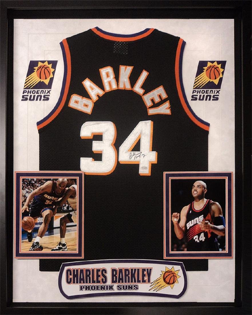 Charles Barkley Signed Suns Jersey