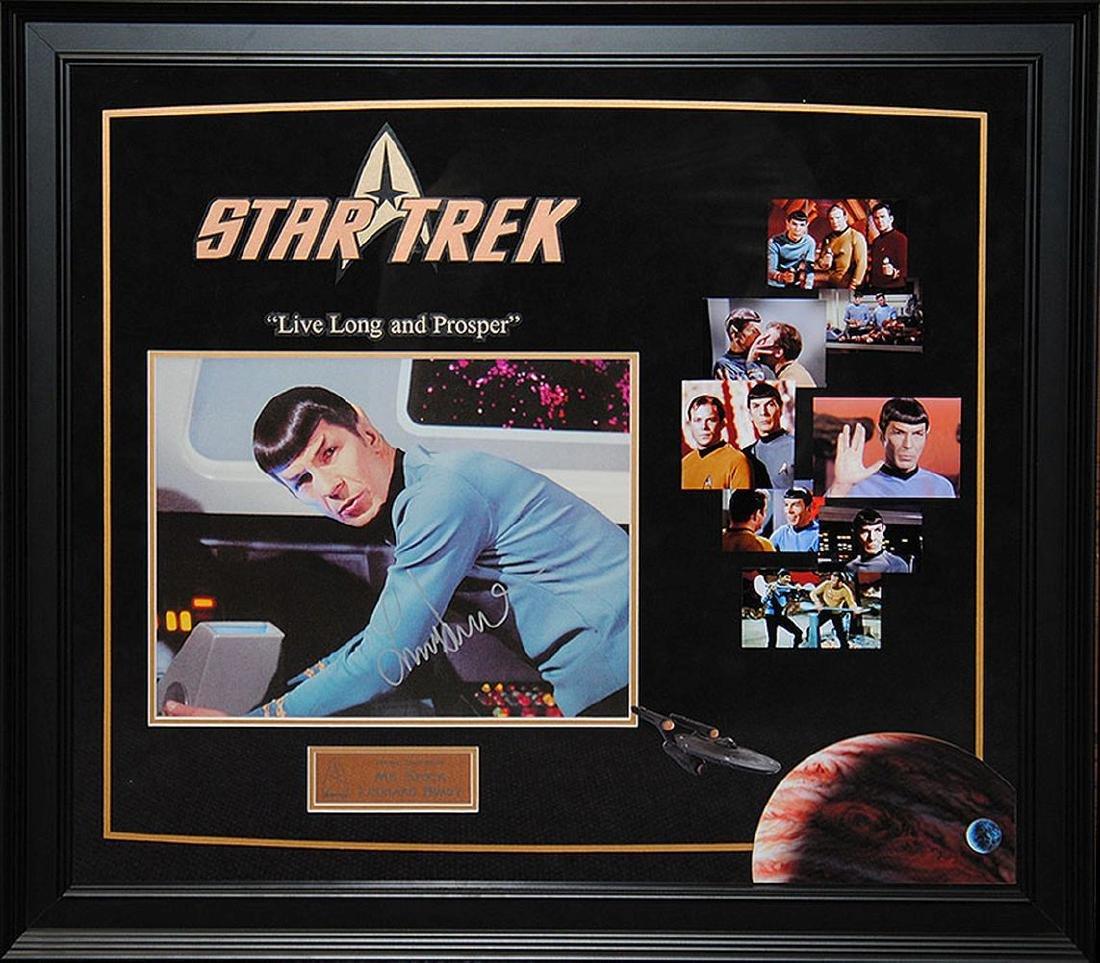 "Leonard Nimoy Signed ""Star Trek"" Collage"