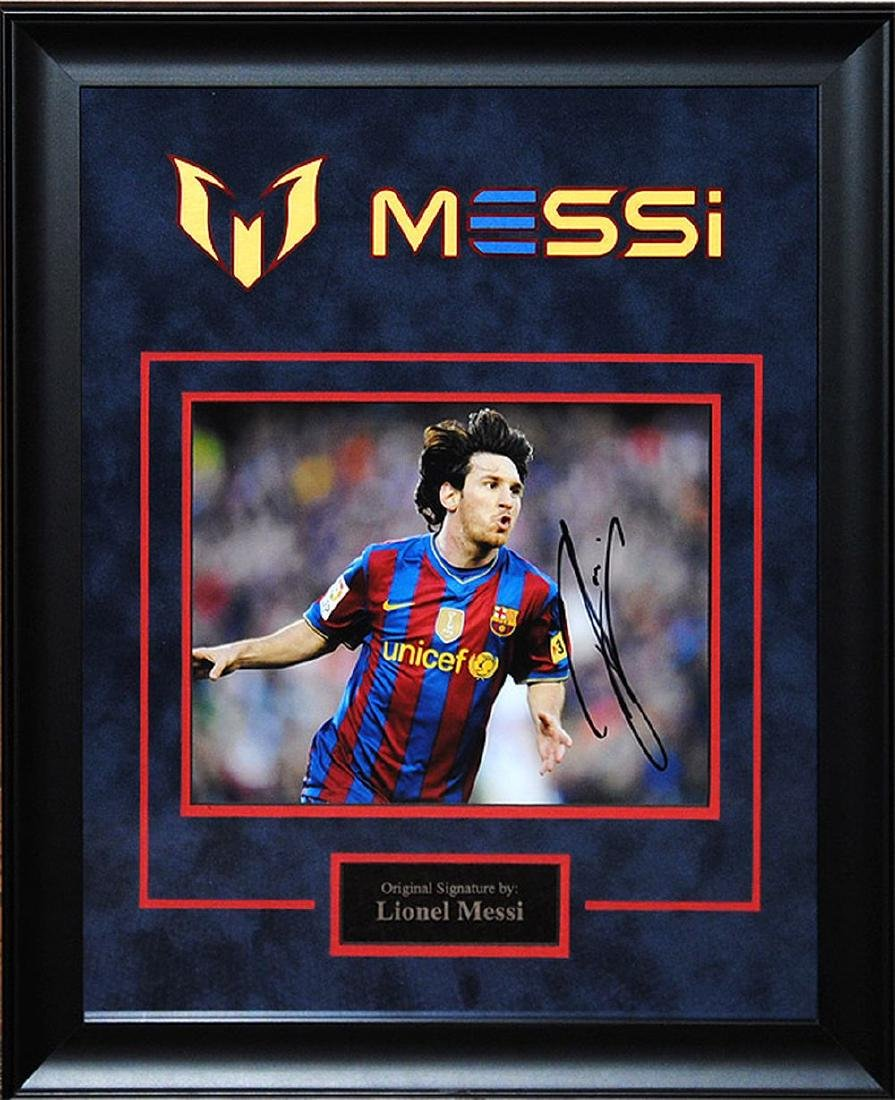 Lionel Messi Signed Artist Series Picture