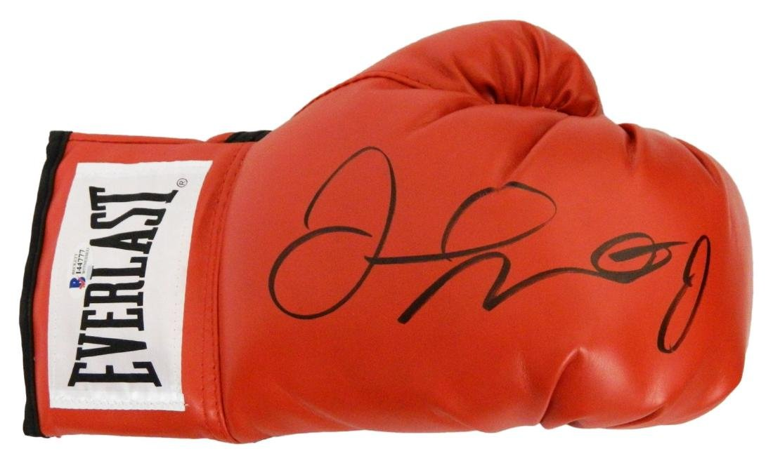Floyd Mayweather Jr. Signed Everlast Red Boxing Glove