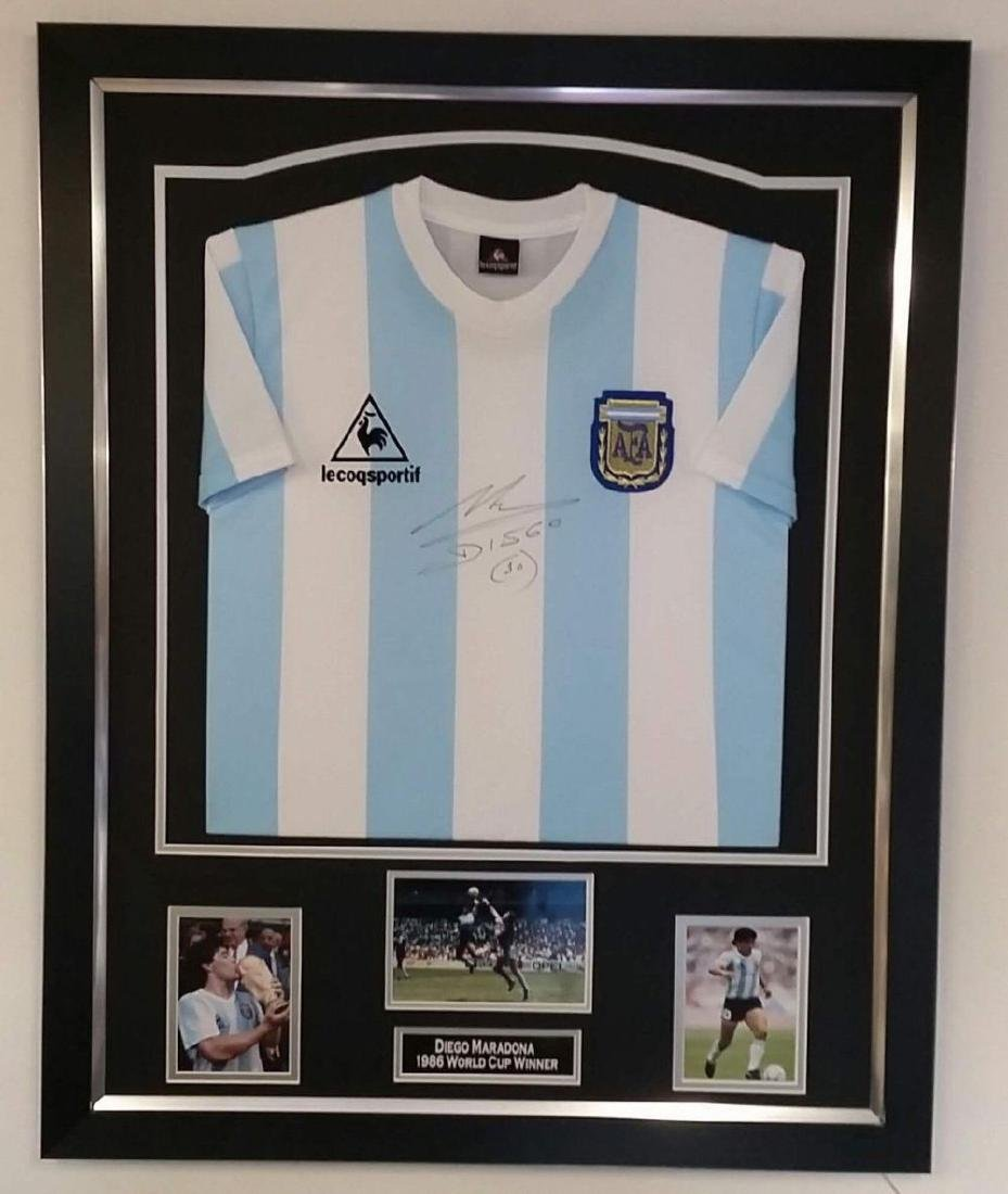 Diego Maradona Signed Soccer Jersey