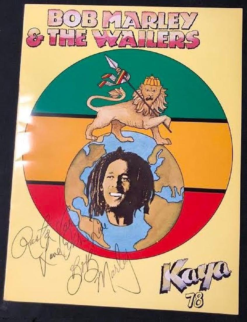 Bob Marley Signed and Inscribed Kaya 78 Tour Book