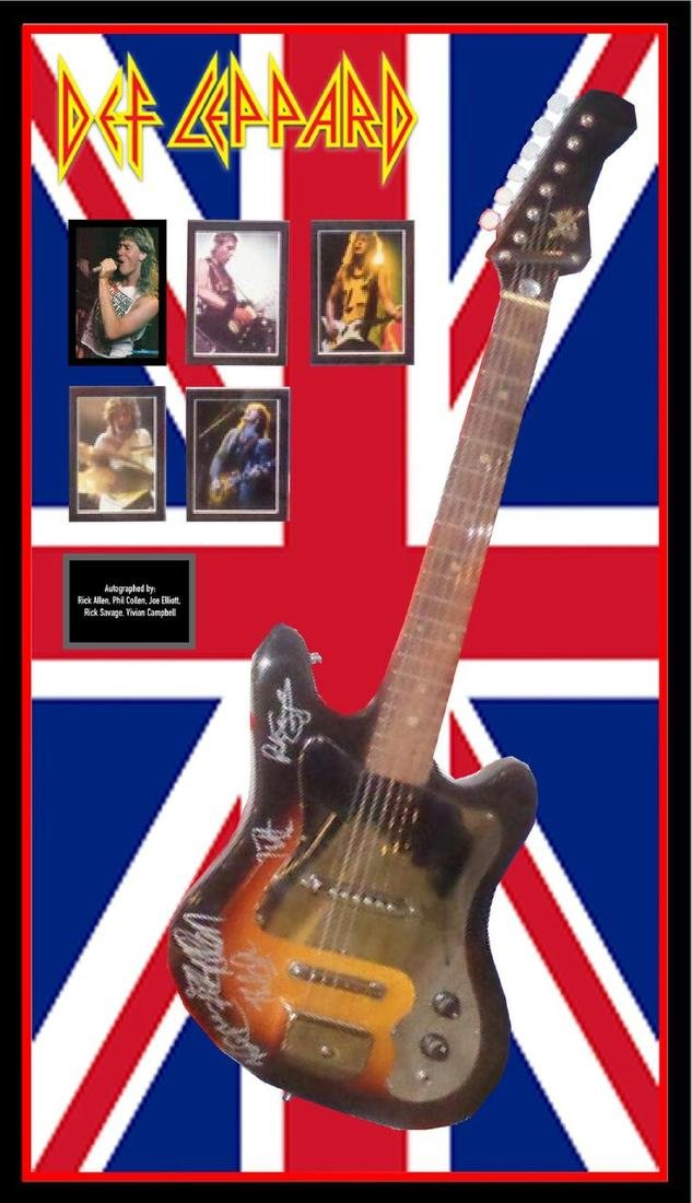 Def Leppard Autographed Guitar