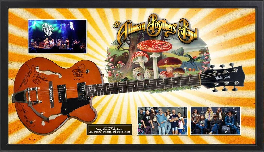 Allman Brothers Signed Guitar