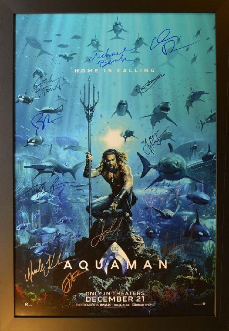 Aquaman Signed Movie Poster
