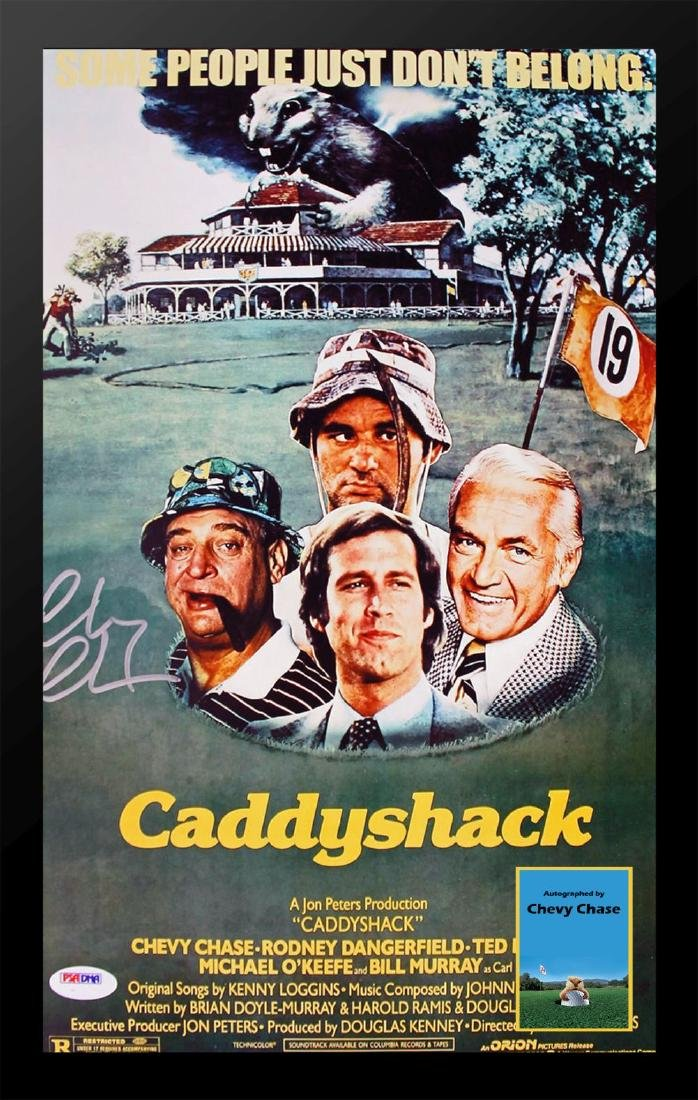 Caddy Shack Signed Movie Poster