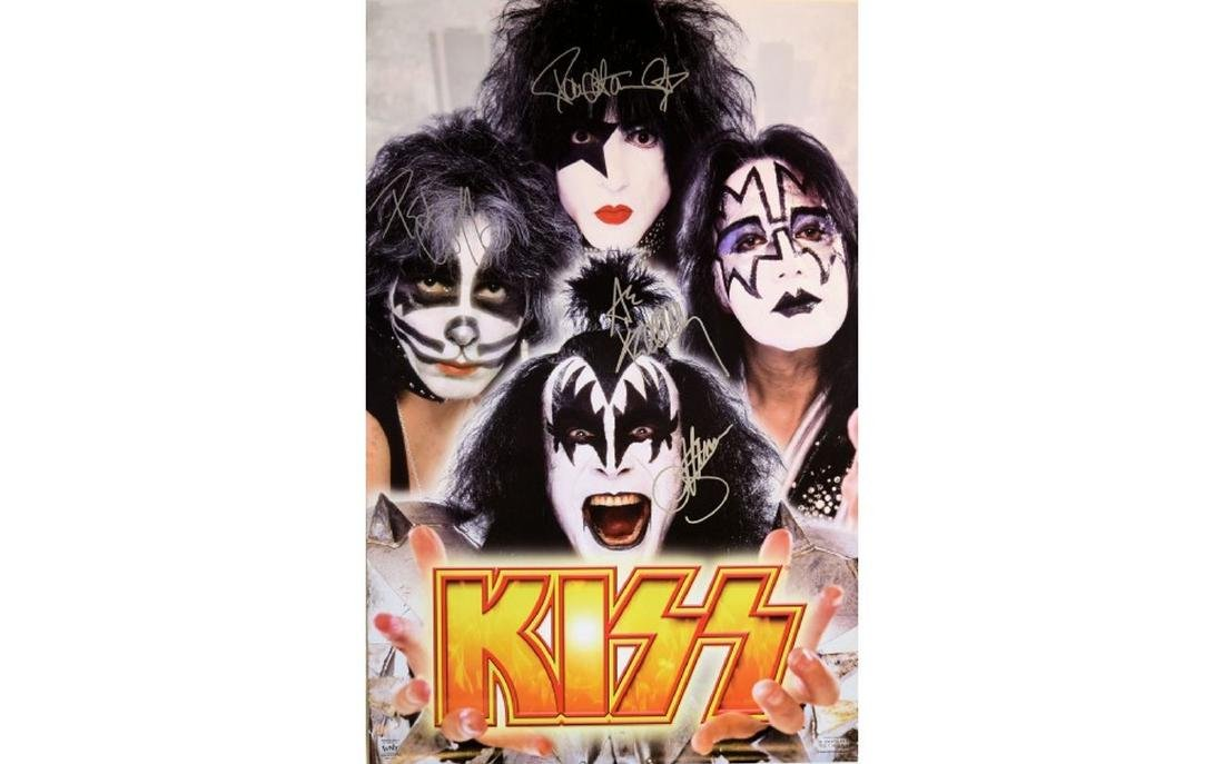 Kiss Signed Promo Poster