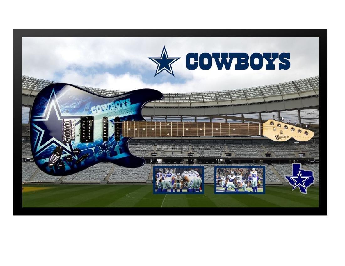 Dallas Cowboys Framed Guitar