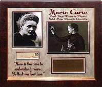 Marie Curie Signed Collage
