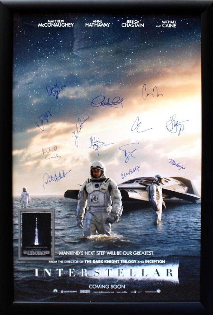 Interstellar Signed Movie Poster