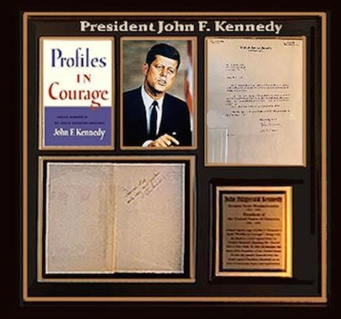 John F. Kennedy Signed and Framed Profiles in Courage