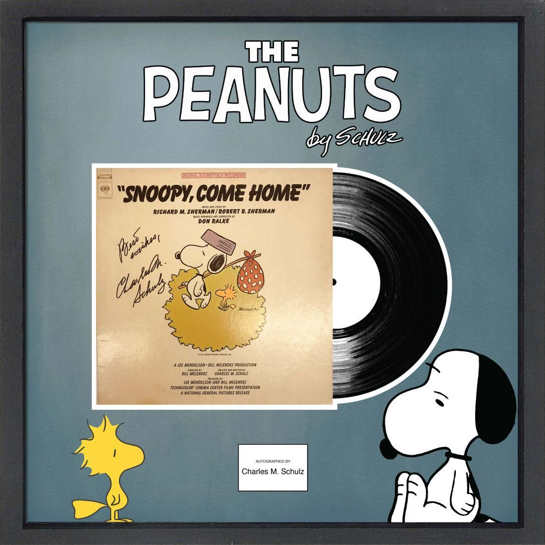 """The Peanuts Signed """"Snoopy, Come Home"""" Framed Album"""
